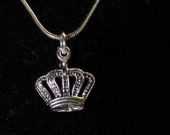 """20"""" Stainless Steel with Crown Charm"""