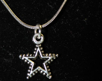 """20"""" Stainless Steel Necklace with Star Charm"""