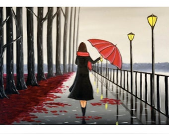 fine art print, umbrella print, print of umbrella, girl with umbrella, umbrella art print,