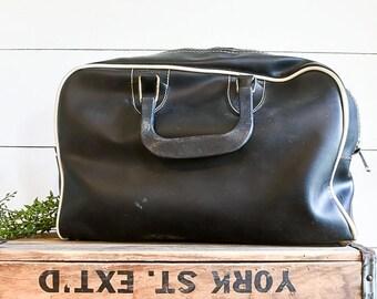 Black Vintage Bowling Bag