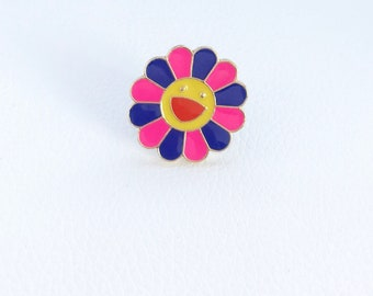 Colorful Daisy Flower Pin