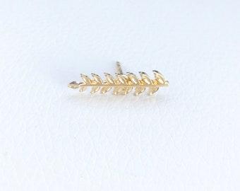 Golden Leaf Pin (Brooch)