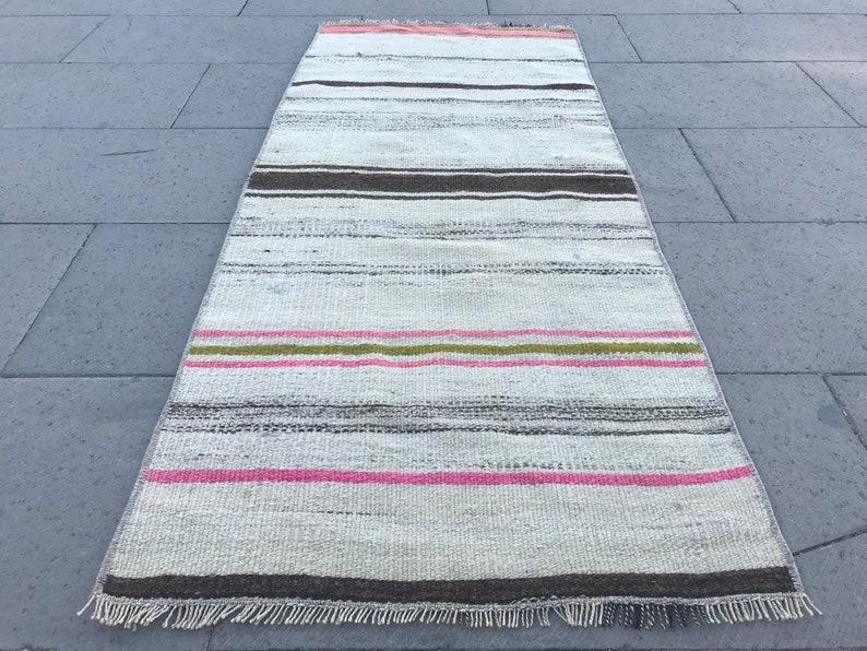 Vintage Small Kilim Rug,Striped Design Kilim Rug,Colorful Small Rug,Turkish Rug,Anatolian Kilim Rug,Home Decor Kilim Rug,Bohemien Kilim Rug,