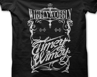 0988af016 Wibbly Wobbly Timey Wimey unisex t-shirt funny Dr Who Doctor who sci fi tee