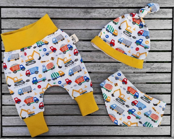 Organic Baby Clothes Construction Car Boy Clothes Baby Etsy