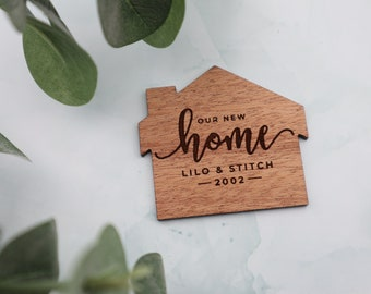 Our New Home Fridge Magnet   New Home Gift   Housewarming Gift