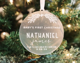 Baby's First Christmas   Personalized Acrylic Baby Ornament