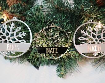 Snowflake Name Ornaments   Custom Family Ornaments