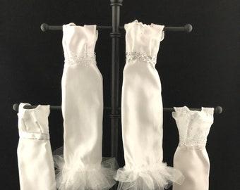 Mix Handmade Doll Dress Doll Wedding Party Bridal Princess Gown Clothes HK