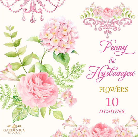 Peonies watercolor clipart pink flower clipart peonies etsy image 0 mightylinksfo