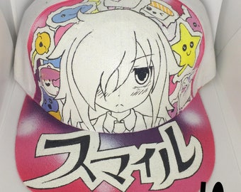 Handpainted Tomoko Smile Snapback