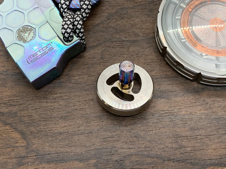 EDC PERFORMER Spinning Top Flamed Tungsten Rubin Kugel   Etsy
