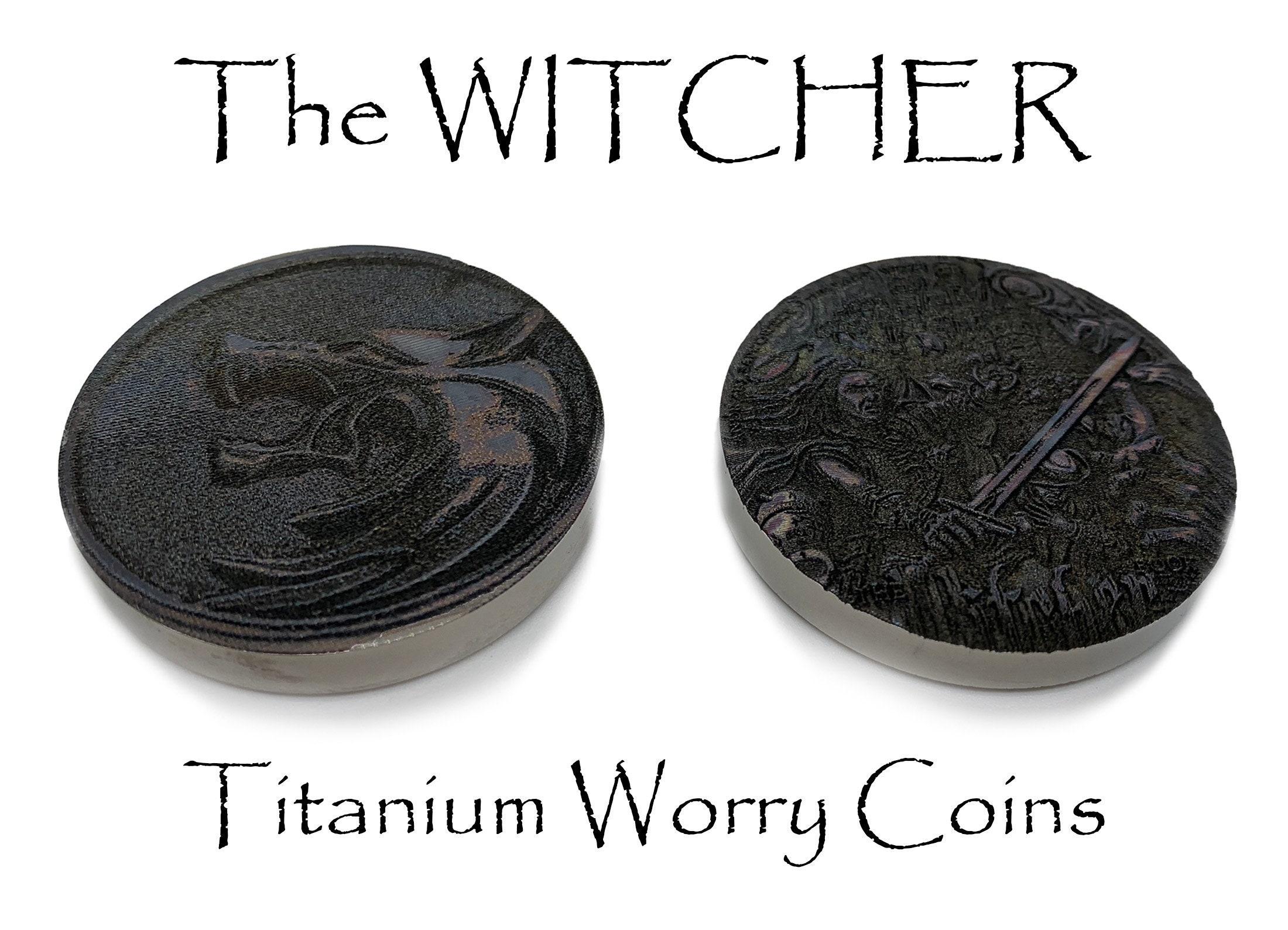 The WITCHER Titanium Sorgenmünzen Angstrelief 20 zum Preis von 20 The Witcher  Medallion Geralt of Rivia Medaillon Medaillon MetonBoss