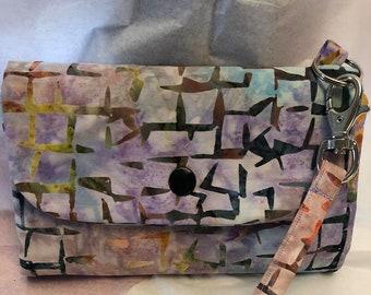 Batik Phone Wallet Wristlet