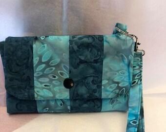 Blue Phone Wallet Wristlet