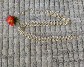 Beaded Pearl Chain Belt