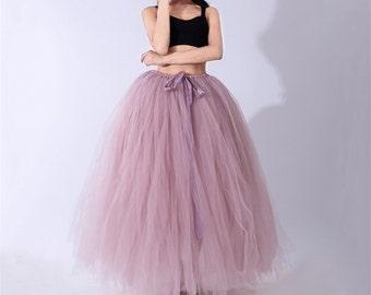 ad0946172d Tulle Tutu Skirt, Adult, Women, Adult Long Tutu / Tulle Skirt, Engagement  Tutu / Maternity Tutu / Long Tutu / Prom / Photo Prop, One size