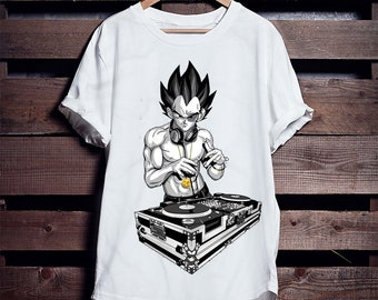 cfd6f30e048d DJ Goku Master of Mischief Loose Fitted EtsyX49 Free UK Delivery White T- Shirt