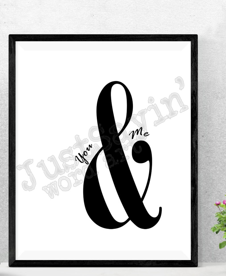 image about Printable Word Art named Oneself Me - Ampersand Term Artwork Printable Printable Term Artwork - Prompt Down load of Electronic Documents - Various Dimensions and Record Patterns