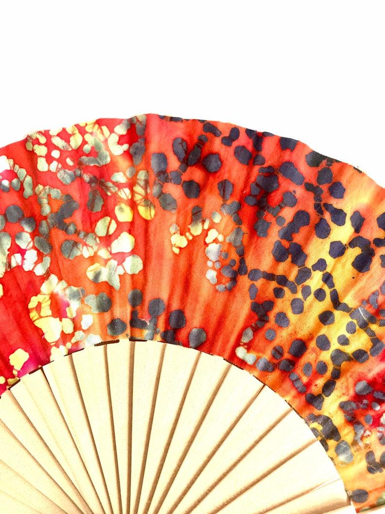 designer women accessory wedding gift hand fan Handmade fabric fan