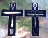 Sterling Silver Cross Etui - Exceptional Antique Sewing Case - Victorian Cross