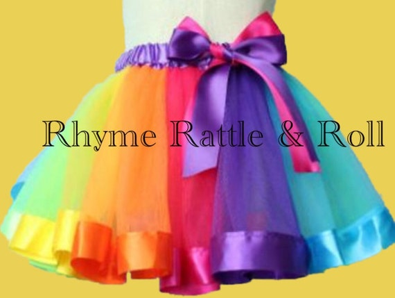 51ce58c18c Rainbow Tutu Skirts Girl Toddler Clothing Summer Color Girls   Etsy