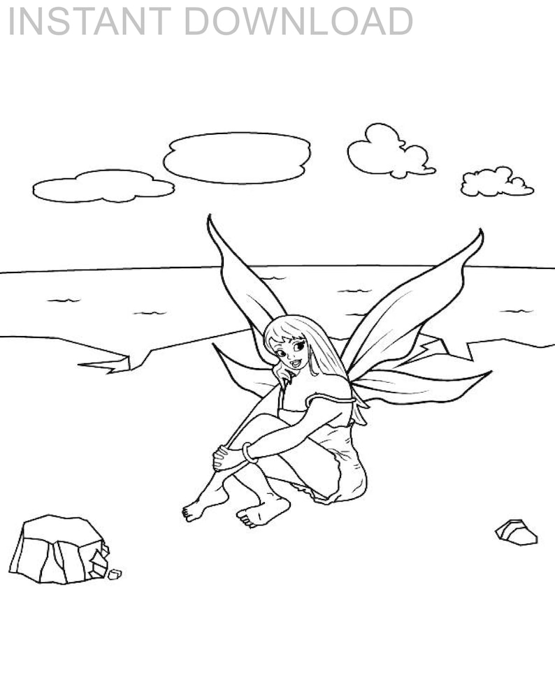 Fairy Coloring Pages. Free Printable Princess Pictures (76) | 993x794