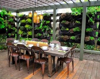 12 Pocket Outdoor Vertical Garden Planter