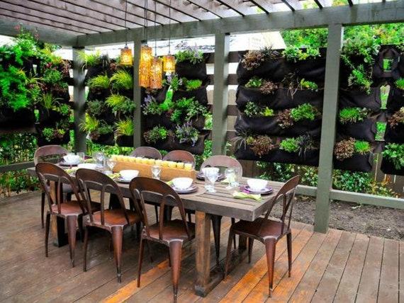 Vertical Garden Planters >> 12 Pocket Outdoor Vertical Garden Planter