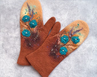 Mittens felted BRIGHT DAYS