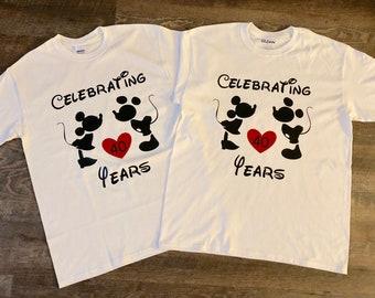 Mickey & Minnie Anniversary Tshirts