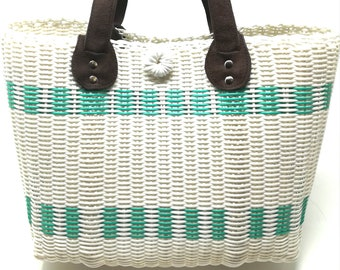 Medium recycled bag, colourful bag, market bag, gift for her, yoga clothes bag, beach bag, shopper bag, boho bag, shoulder bag, everyday bag
