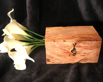 Decorative Cherry Burl Keepsake Box