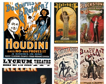 M63 1892 Vintage Magician Magic Theatre Poster A1 A2 A3