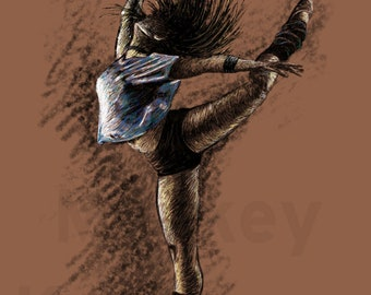 Dancer A - In the Style of Degas