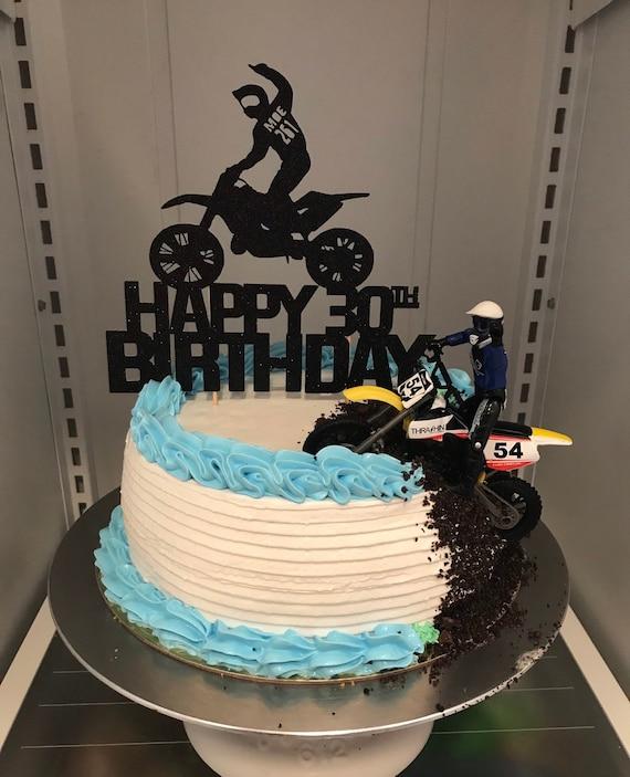 Custom Cake Topper 6th Anniversaire Paillettes tout nom tout âge 1,2,3,4,5,6,7,8,9