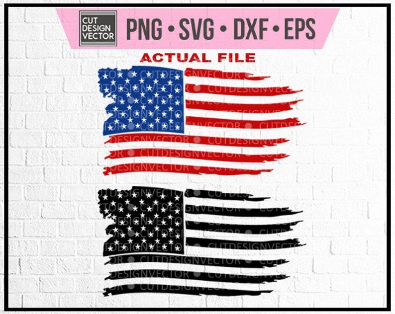 Distressed American Flag Svg Distressed American Flag Waving Etsy