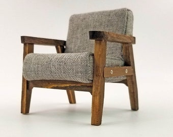 Dollhouse Miniature Furniture Modern Sofa Couch Chair 1:12 Scale