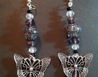 Dangling Butterfly Handmade Earrings