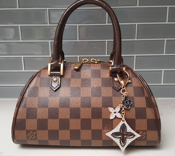 da550e16493b Louis Vuitton Inspired white and navy blue rhinestone bag