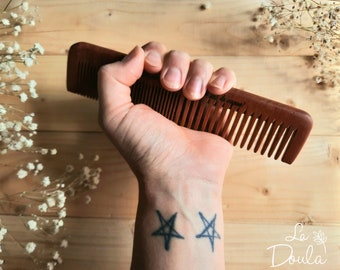Acupressure comb made of Wood / doula, Bonapace, childbirth, gift, midwife, birth, tool, natural, pain relief