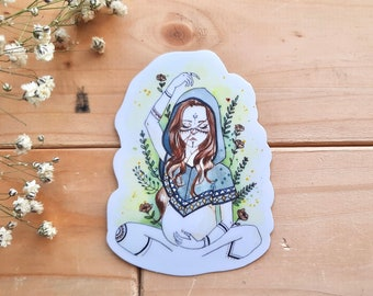 """Wolf Mother"" vinyl sticker / sticker, doula, baby, woman, birth, yoni, car, empowerment, gift, vinyl, midwife"