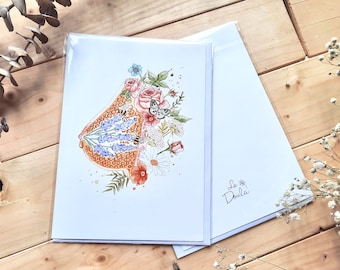 WISH card OR LIQUIDE / wishes, thanks, wishes card, midwife, doula, midwife, stationery, breast, breastfeeding, breastfeeding