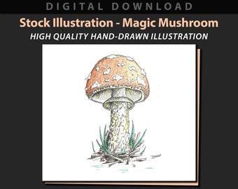 Magic Mushroom stock illustration