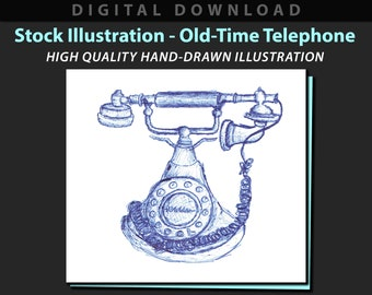 Old-Time Telephone stock illustration