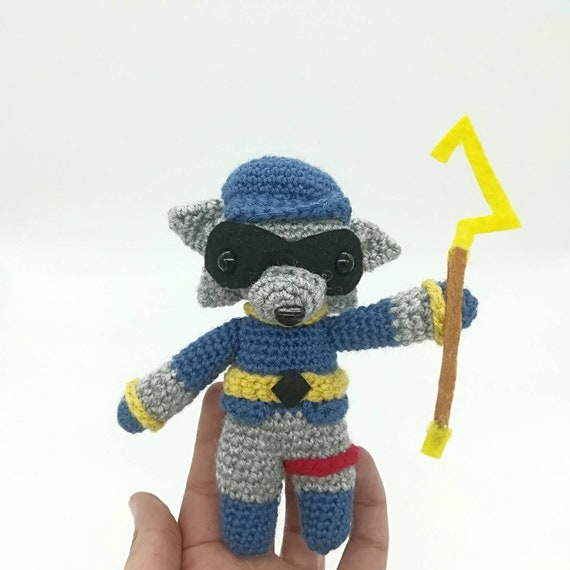 Sly Cooper Stuffed Animal, Sly Cooper Handmade Plush Etsy