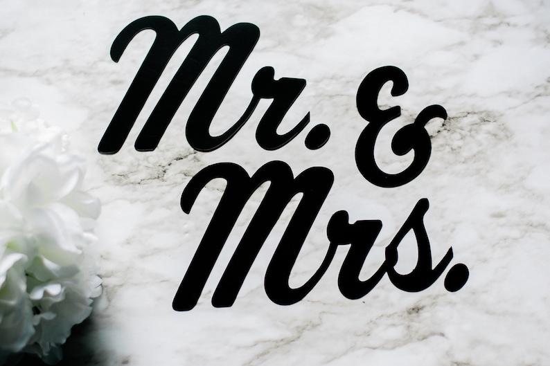 /& Mrs Mr Custom Wedding Magnet