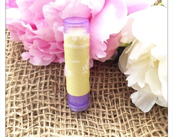 Lemon Lip Balm made with essential oils. Party favors. Buy in bulk. Presents.