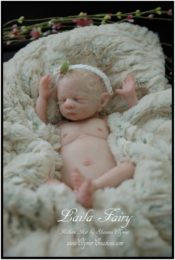 "Opal Fairy Pixie Petite 14/"" Reborn LE KIT-BLANK PARTS only by-Shawna Clymer LOOK"
