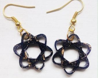 Up & Atom Resin Atom-Shaped Earrings